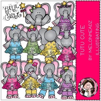 Tutu cute clip art - Elephants - COMBO PACK- by Melonheadz