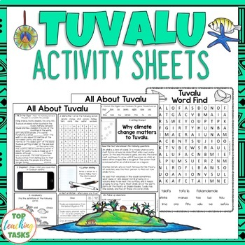 Tuvalu Activity Sheets Reading and Writing Activities