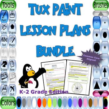 Tux Paint Lesson Plans Bundle for K-2