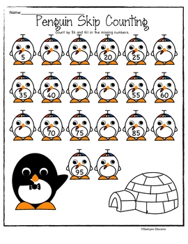 Tux the Penguin Skip Counting