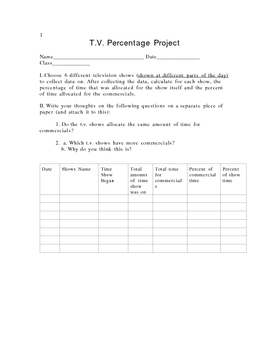 TV Percentage Project