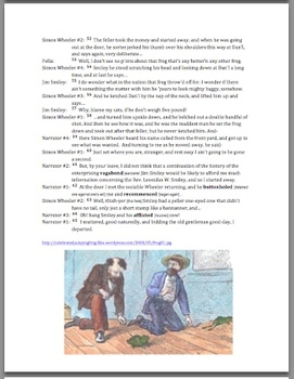 Script or Play Twain's Celebrated Jumping Frog of Calaveras County, Vocab, Guide