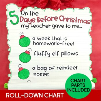 Christmas Activities & Countdown Gifts 5 Days Before Christmas Break Gr 2-3