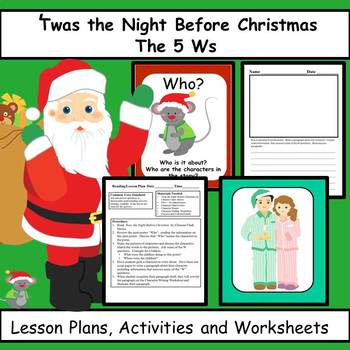 Twas The Night Before Christmas Reading Comprehension Lessons and Activities