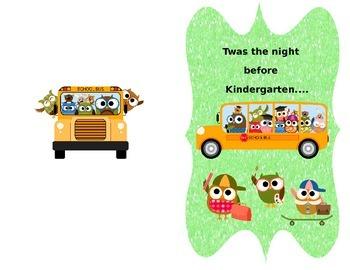 Twas The Night Before Kindergarten- Editable Student Poem
