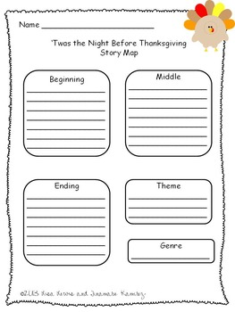 'Twas The Night Before Thanksgiving~ a One Week Unit for the story by Dav Pilkey