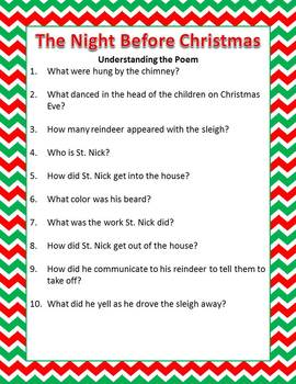 Twas the Night Before Christmas Activity