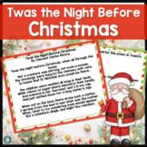 Christmas Close Read - 3rd Grade Comprehension 'Twas the N