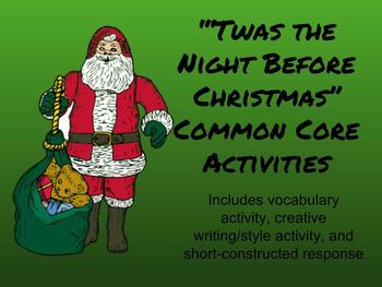 Twas the Night Before Christmas Common Core Study Guide for Middle School