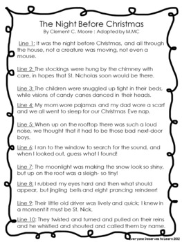 The Night Before Christmas Adapted Reader's Theater