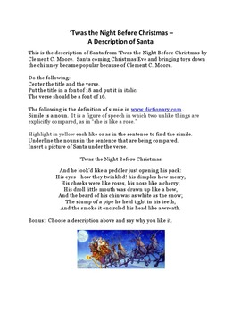 Twas the Night Before Christmas For Microsoft Word