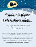 'Twas the Night Before Christmas - Language Arts Activities - Grades 3 - 5