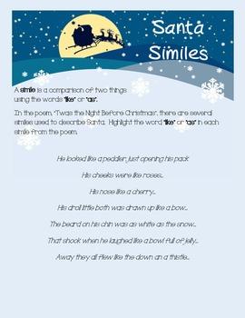 'Twas the Night Before Christmas - Language Arts Activities - Grades 3 - 5