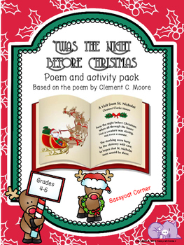 Twas the Night Before Christmas Poetry Activity Pack