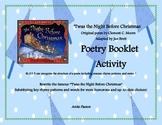 'Twas the Night Before Christmas Poetry Booklet Activity