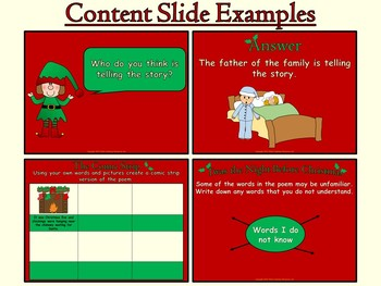 Twas the Night Before Christmas (PowerPoint and worksheets)