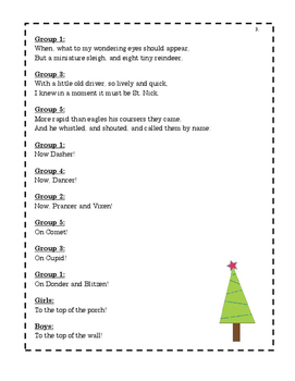 Twas the Night Before Christmas Reader's Theater Vocabulary