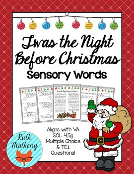 Twas the Night Before Christmas Sensory Words - VA English SOL 4.5g