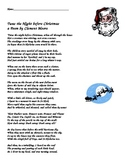 Twas the Night Before Christmas Vocabulary and Poem Activity