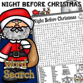 Twas the Night Before Christmas Word Search Activity