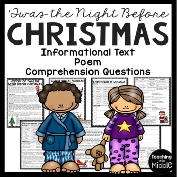 Twas the Night Before Christmas history, poem, and reading comprehension