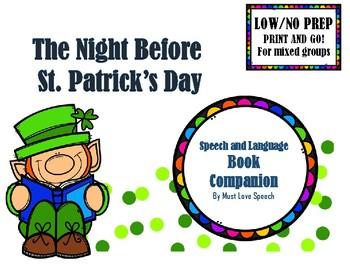 Twas the Night Before St. Patrick's Day: A NO PREP Book Companion!