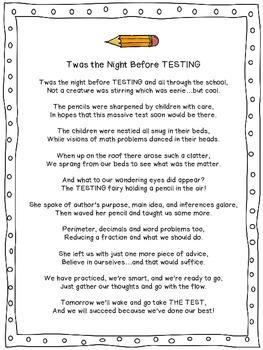 """Twas the Night Before Testing"" Poem!"