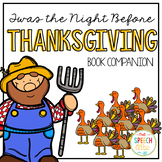 Twas the Night Before Thanksgiving: Speech and Language Book Companion