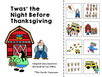 Twas the Night Before Thanksgiving Adapted book