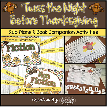 Book Activities ~ Twas the Night Before Thanksgiving