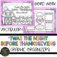 Twas the Night Before Thanksgiving Graphic Organizers