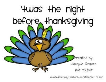 Twas the Night Before Thanksgiving Literacy Pack