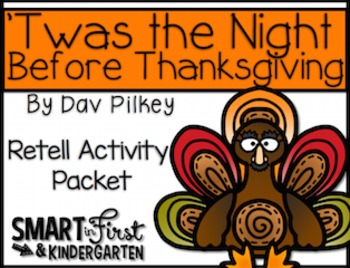 Twas the Night Before Thanksgiving Retell Packet