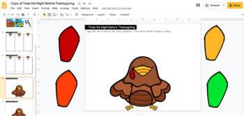 Twas the Night Before Thanksgiving Retelling Printables (Book Activity)