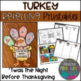 Twas the Night Before Thanksgiving Retelling Printables (B