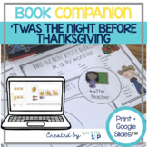 Twas the Night Before Thanksgiving Book Companion Speech Therapy + Digital