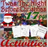 'Twas the Night before Christmas * 17 Fun Activities Worksheets Math Writing +