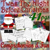 Twas the Night before Christmas Reading Comprehension Book Companion Activities