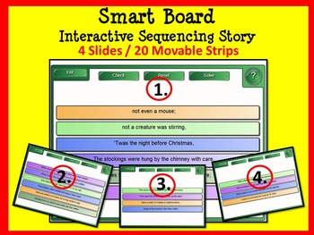 'Twas the Night before Christmas SMART Board Sequencing Story & Worksheet