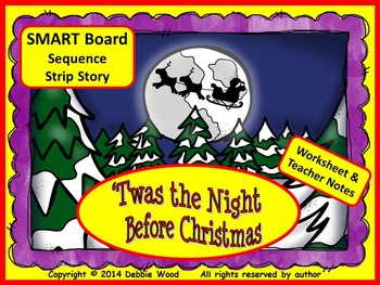 'Twas the Night before Christmas SMART Board Sequencing St