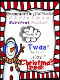 Twas the week before Christmas Break...Survival Packet