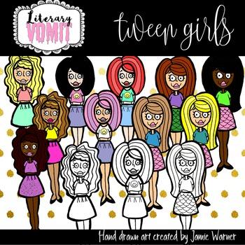 Tween Girls Clip Art