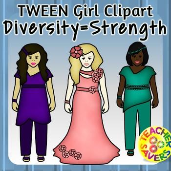 Tween Girls Clipart