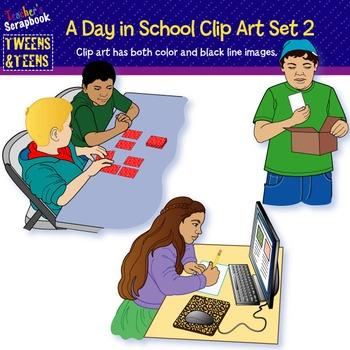 Tween & Teens: A Day In School Clip Art Set 2