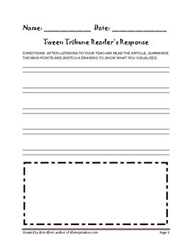 Tween Tribune Response