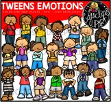 Tweens Emotions Clipart Bundle {Educlips Clipart}