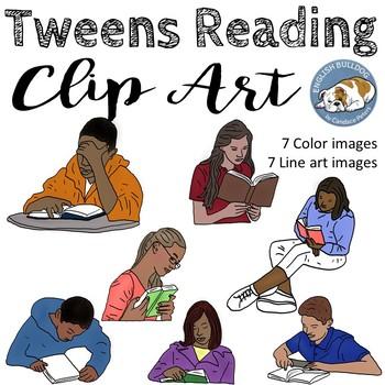 Tweens Reading Clip Art Bundle