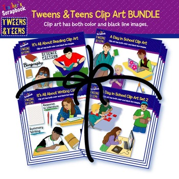 Tweens & Teens Clip Art BUNDLE