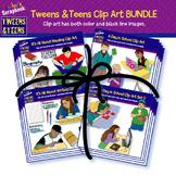 Tweens & Teens Clip Art BUNDLE