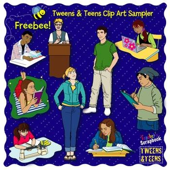 Tweens & Teens Clip Art Sampler FREEBEE